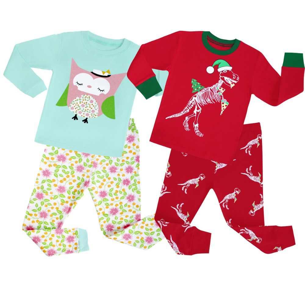 4d3ed52160 Latest Girls Pajamas Sets Children 2 pc Full Sleeve Pajama Boys Pyjamas for  1-8