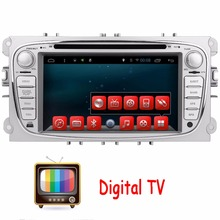 Digital TV 2Din In Dash Android Car DVD Player For Ford/Mondeo/Focus With Dual Core Wifi GPS Navigation Steering wheel control