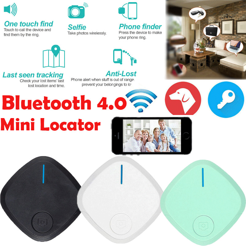 S2 Smart Tracker Bluetooth Locator Pet Anti Lost Alarm Sensor Mini Tracking Finder Intelligent Anti-lost Device 3E10