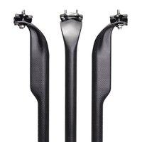 No Logo Carbon asiento 27.2 31.6 tubo de fibra de carbono completa MTB bicicleta pico bisel sillín de carbono MTB 3 K mármol /compañero