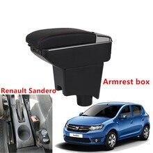 For Renault Sandero Armrest Box Sandero1-2 Universal Car Central Armrest Storage Box cup holder ashtray modification accessories