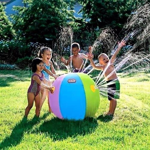 Verão Ao Ar Livre Engraçado Spray de Água Inflável Bola de Praia Partido Das Crianças Das Crianças Brinquedo Antistress Esmagá-lo