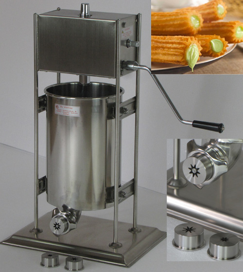 12L Capacity Spanish churros making machine_churro machine for sale 12l electric automatic spain churros machine fried bread stick making machines spanish snacks latin fruit maker