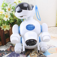 Pet Robot Dog Puppy Baby Friend Partner Gift With Music Light Dog Toys