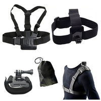 For Gopro Accessories Set Head Chest Belt Wrist Bag Single Shoulder Strap For SJCAM SJ4000 SJ5000X Elite M10 M20 Xiao Yi EKEN H9