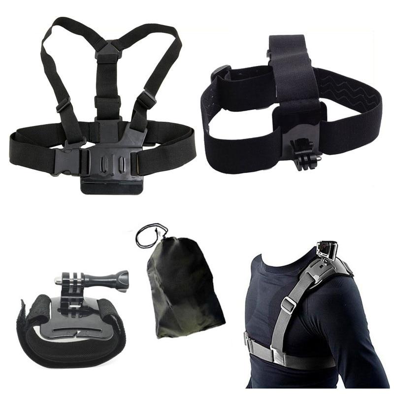 For Gopro Accessories Set Head Chest Belt Wrist Bag Single Shoulder Strap For SJCAM SJ4000 SJ5000X