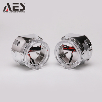 AES Automotive 2.5 inch mini bi-xenon projector lens with led angeley for H4 H7