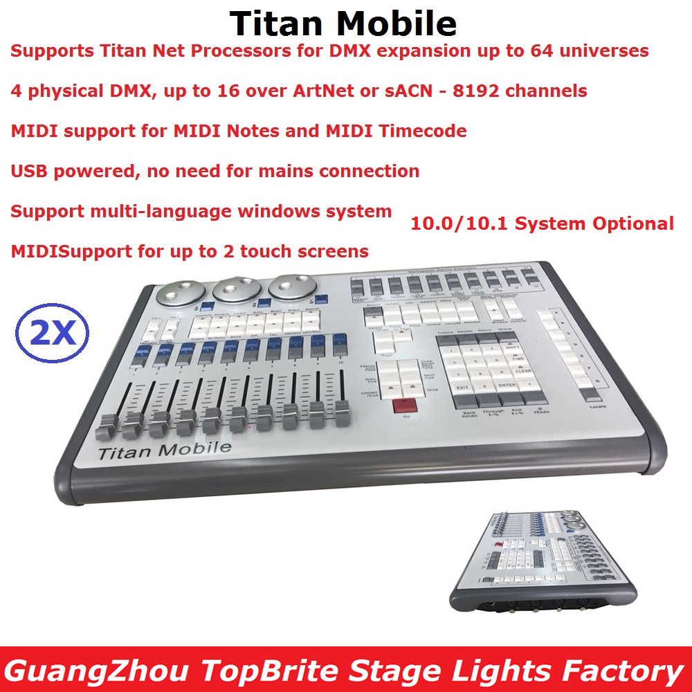 2IN1 Flightcase Pack DMX Lighting Controller Avolits Titan Mobile Console Professional Dj Disco Stage Lighting Shows Equipments стоимость