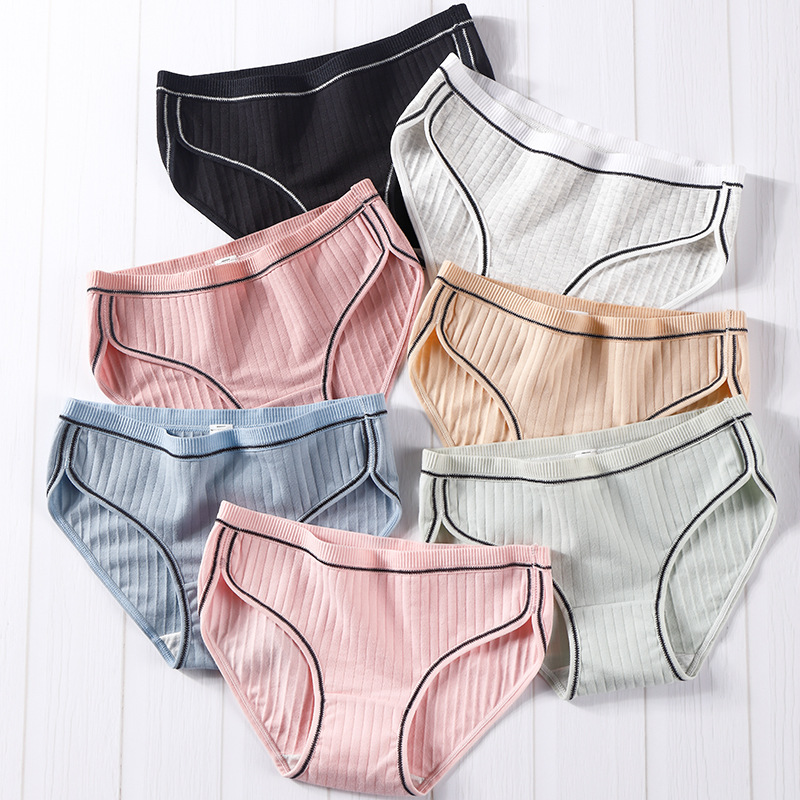 Cotton panties for women Breathable Antibacterial ladies briefs sexy lingerie girl underwear female underpants solid color panty