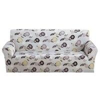 1 unid Sofá Cubierta Elástica Estiramiento Cubiertas Para Muebles Flor Impresa Fundas antideslizantes Sofá Cubierta del Sofá Todo incluido accesorios