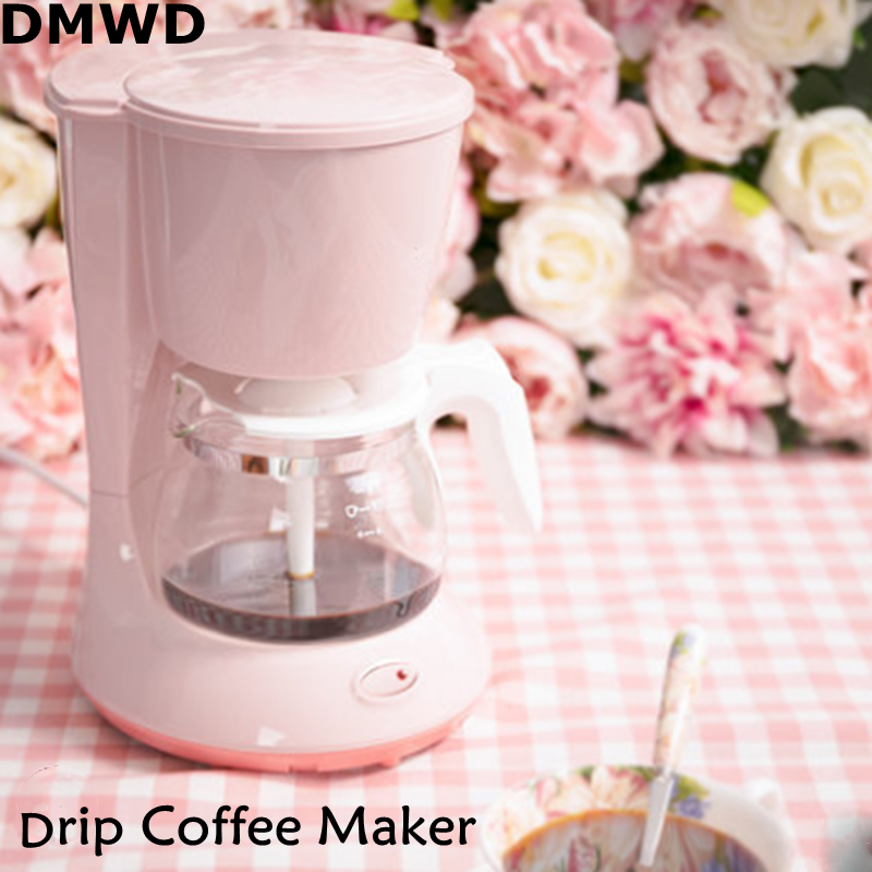 DMWD 700W 220-240V 50/60Hz 600mL Capacity American-style Drip Coffee Maker Anti Drip Leakage Small and Exquisite Coffee MachineDMWD 700W 220-240V 50/60Hz 600mL Capacity American-style Drip Coffee Maker Anti Drip Leakage Small and Exquisite Coffee Machine