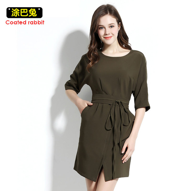 519aff84306 2018 Summer Elegant Women Dress Fashion Half Sleeve O-Neck Slim Bandage  Mini Dreees Female