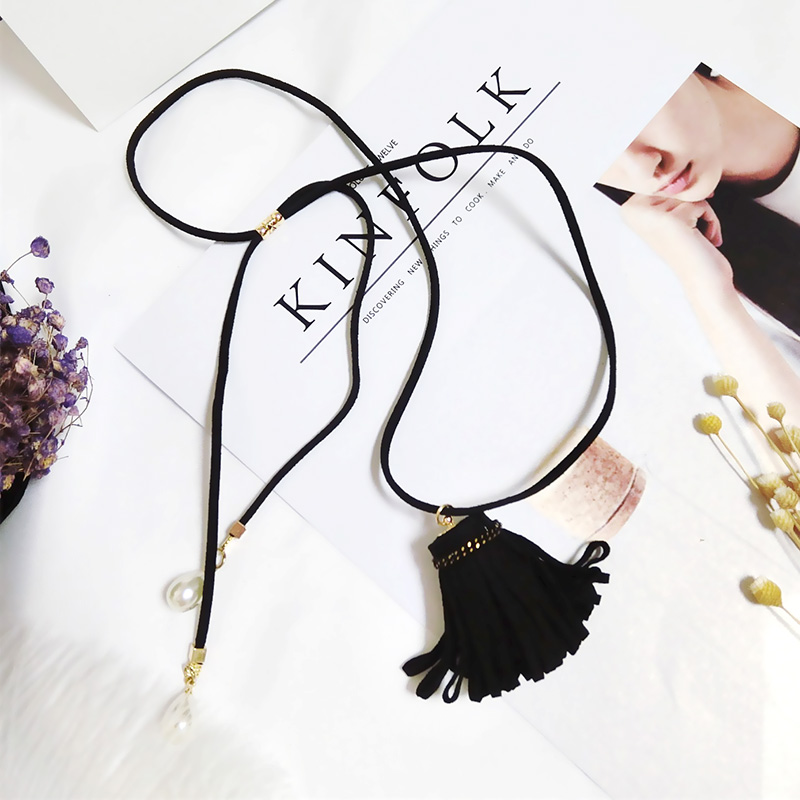 Summer New Fashion Simple Personality Flower Sweather Choker Cloth Pendant Long Adjustab ...