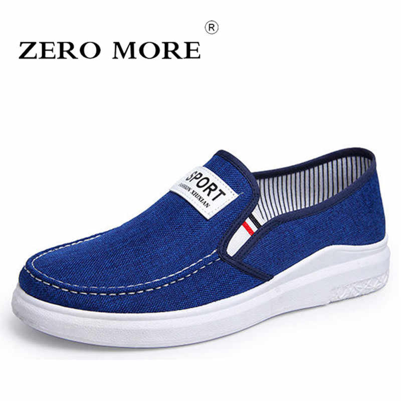 ZERO MORE Canvas Men Shoes Sneakers Loafers Slip On Fashion Men Casual Shoes 2019 Plimsolls Breathable Male Footwear Spring