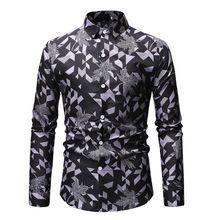 2019 good quality long sleeve causual shirt man slim fit brand plaid print turkey mens shirts