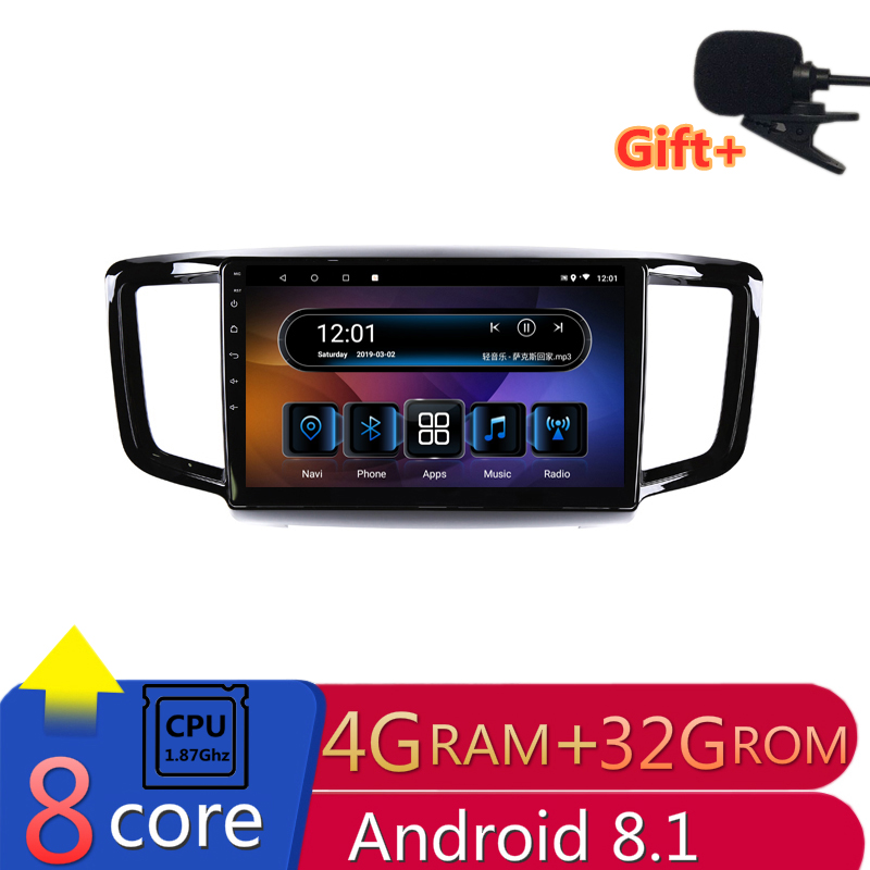 "10"" 4G RAM 2.5D IPS 8 CORE Android 8.1 Car DVD Multimedia Player GPS For Honda Odyssey 2015 2016 2017 audio car radio navigation"