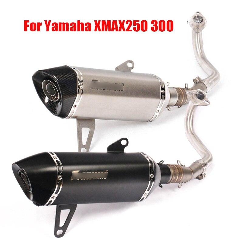 Sans lacet XMAX250 XMAX300 moto système d'échappement silencieux pointe silencieux brancher lien tuyau pour Yamaha XMAX250 300 2017-2018