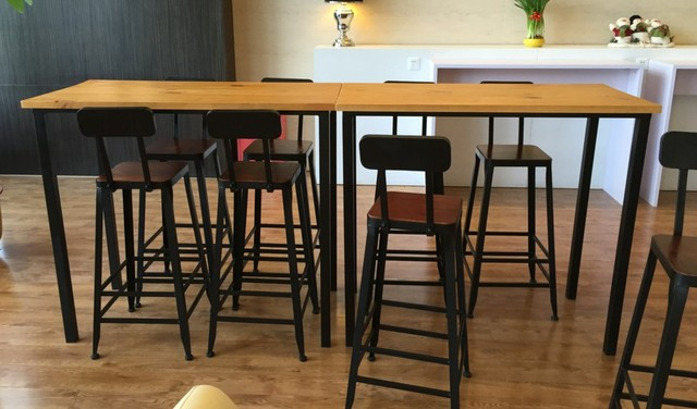 American Iron Loft High Bar Tables Long Table Dining Table