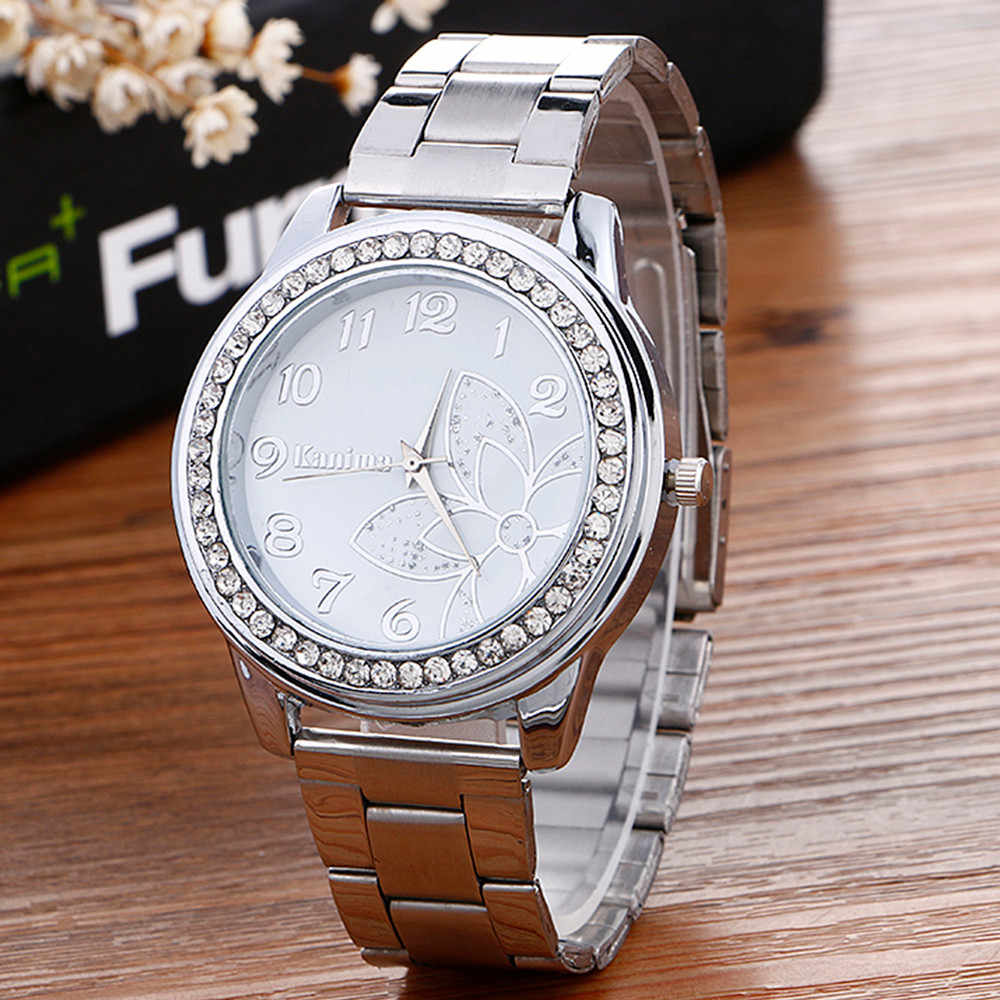 Fashion 2018 Watch Watches Women Women Bracelet Watches Luxury Diamond women watches silver Crystal dial Festival gift simple