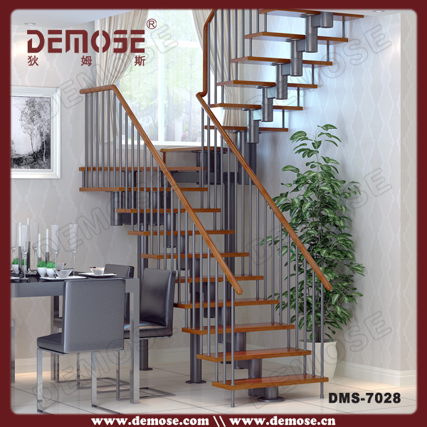 Stairs Design Indoor Wooden Single Stringer Stair