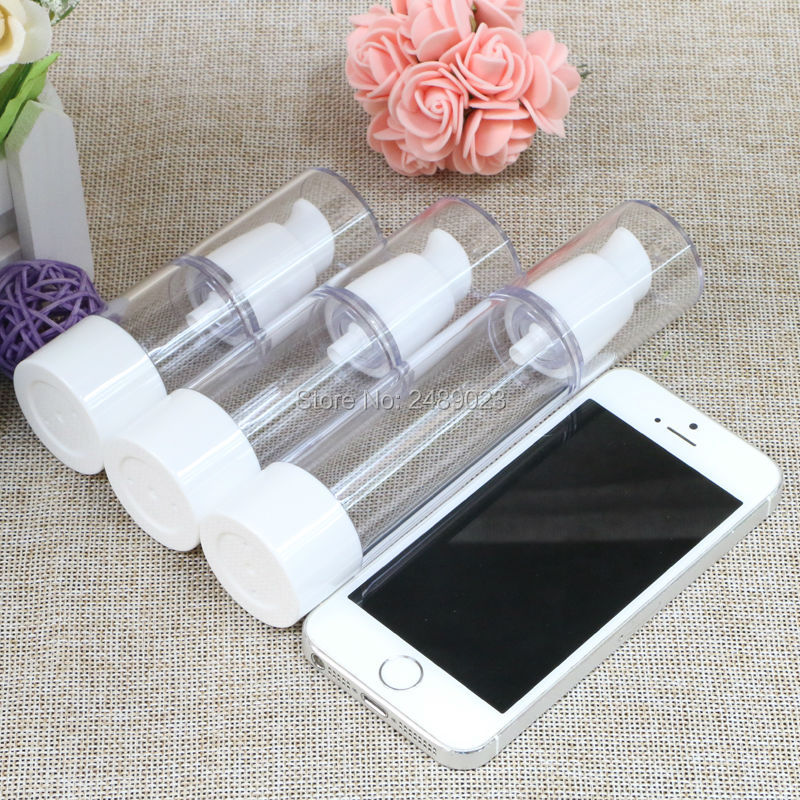 White Airless Bottles Cosmetic Lotion Refillable Bottle Beak Head Korean Style Travel Shampoo Containers 2 Pcs/Lot