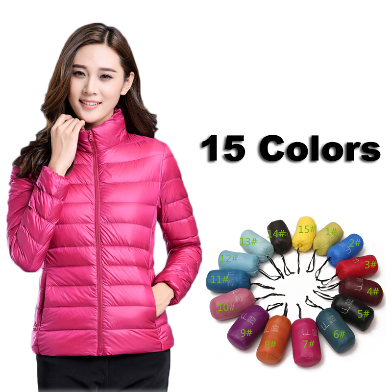QPKDPU 2018 women winter jacket ultra light candy color spring coat female short   parka   cotton outerwear S-3XL jaqueta feminina