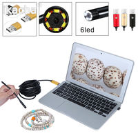 2 In 1 OTG Phone Android USB Endoscope Inspection 7mm Camera 6 LED HD IP67 Waterproof