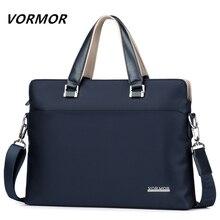 Мужской деловой портфель VORMOR, модная водонепроницаемая сумка из ткани Оксфорд для ноутбука, 2019