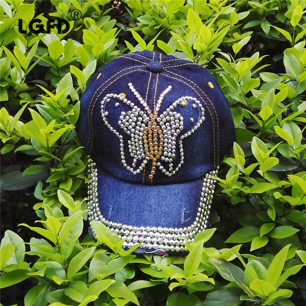 LGFDBC12 girls completa con bling bling Rhinestone sombrero de Vaquero  Vaqueros Mariposa Cristal de Diamante denim gorras de béisbol en Gorras de  béisbol de ... 7b0535db489