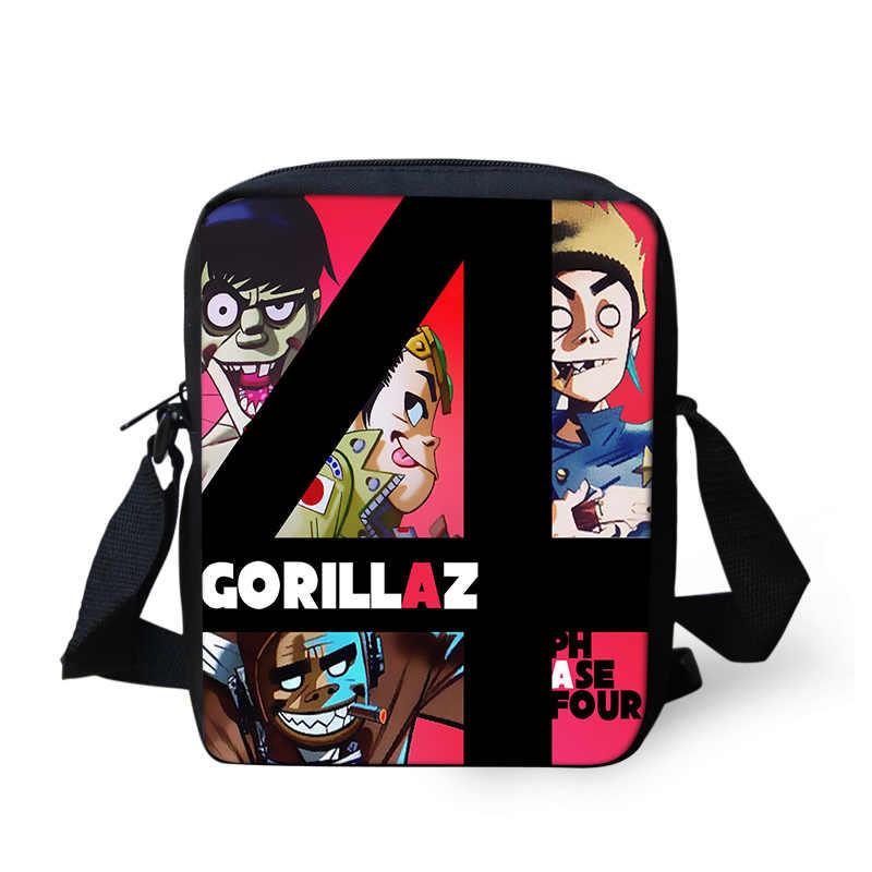 Cartoon Gorillaz school book bags orthopedic backpacks schoolbag satchel  for boys girls teenager students mochila escolar 2018