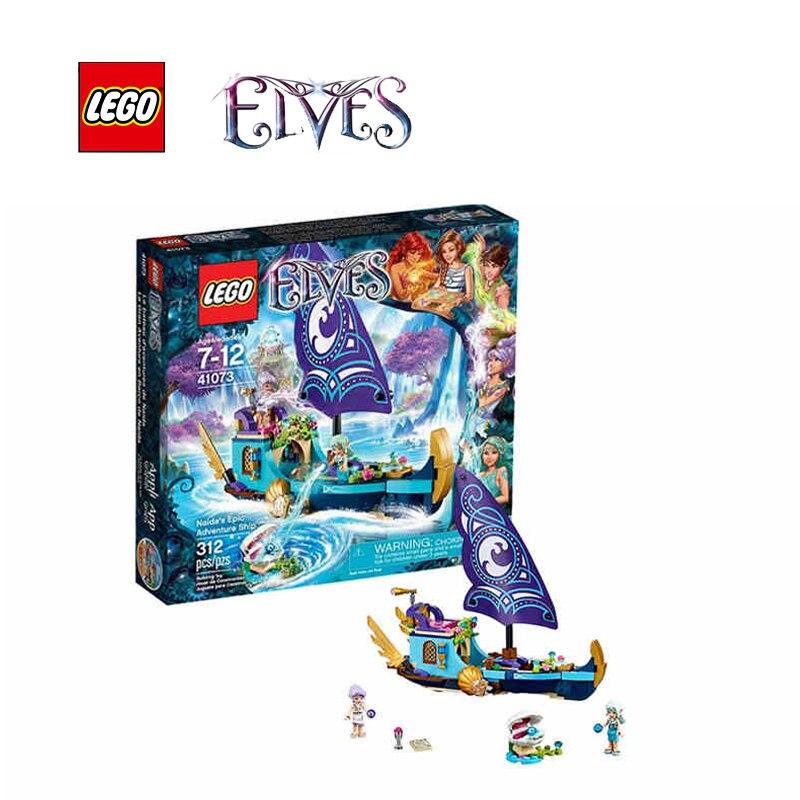 ФОТО LEGO Elves Naida's Epic Adventure Ship Architecture Building Blocks Model Kit Plate Educational Toys For Children LEGC41073