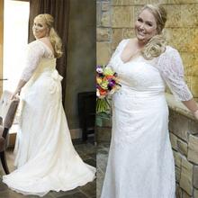 Современный размера плюс свадебное платье с рукавами 2021; robe
