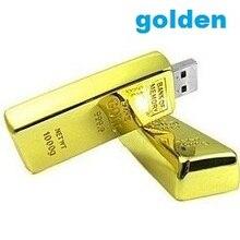 Золотые стержни USB флэш-накопитель 1 Гб 2 Гб 4 ГБ 8 ГБ 16 ГБ 32 ГБ Флешка золотой слиток Золотой usb палка 50 шт./партия
