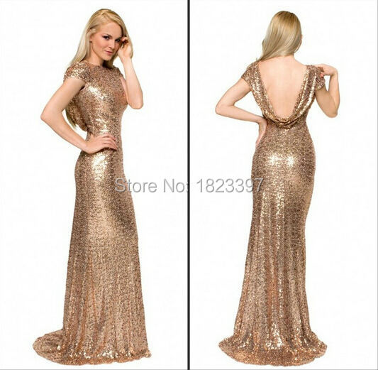 Gold Sparkly Dresses