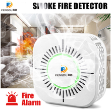 лучшая цена Smoke Detector Fire Alarm Sensitive Stable Independent Alarm Smoke Detector Home Security Wireless Alarm Sensor Fire Equipment