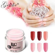 цена на Gelike 10g/Box Dipping Powder Gel Polish Color Manicure Acrylic Nail Art Dip System Powder Free Shipping