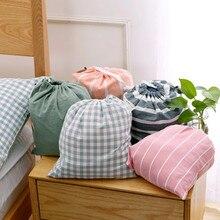 Portable Drawstring Bag Travel Storage Bag Cotton Women Makeup Clothes Toiletries Shoes Organizer Bags