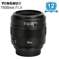 YONGNUO YN50mm F1.4 Стандартный объектив с фиксированным фокусным расстоянием большой апертурой автоматической фокусировки (AF)/ручная фокусировка