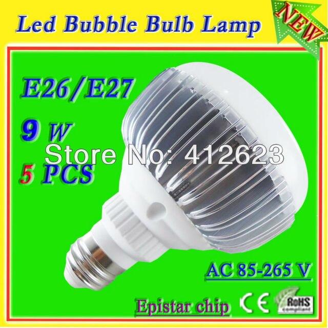 high power 9w led globe ball bulb lamp E26/E27 base (screw in)_free shipping energy saver light bulbs