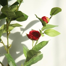 1 pc Artificial tea rose silk flower fake Camellia Hot selling Home Decoration Fake for Wedding and Party