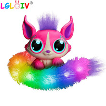 Ститч плюшевая игрушка сюрприз лиса мягкие игрушки электронная лиса с поем музыкальный светильник игрушки для детей игрушки для девочек идеальный подарок