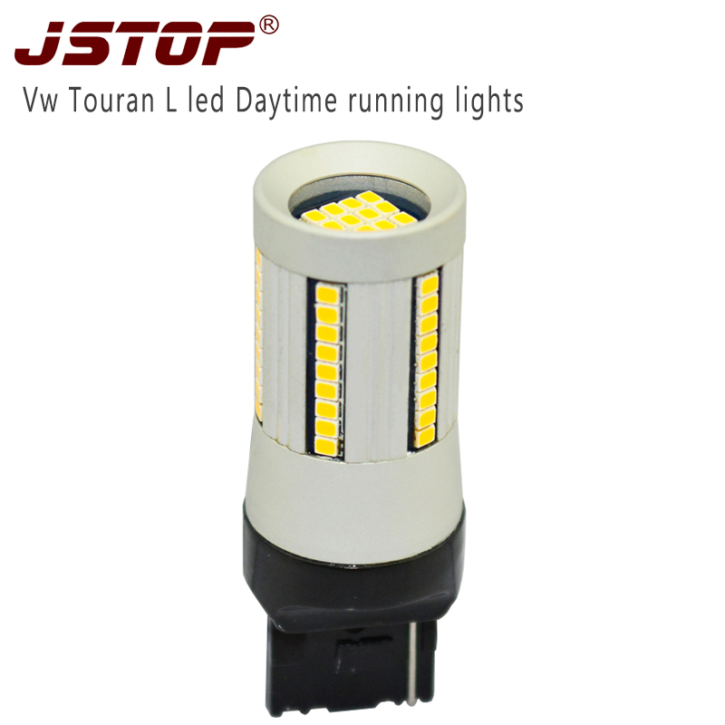 JSTOP car led Daytime running lights 12VAC high quality Daytime bulbs W21W exterior lamps T20 7440 12W Canbus No error Day Light 1156 bau15s 7440 7443 2835 20w canbus error free car auto front side turn signal drl daytime running lights lamps bulbs g