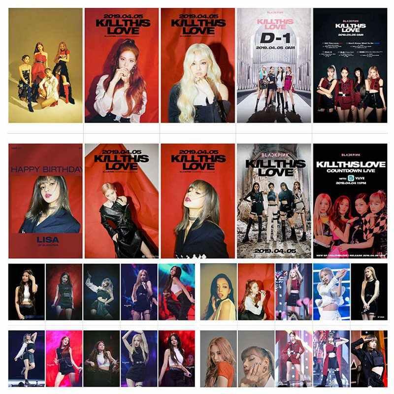 BLACKPINK تقتل هذا الحب K-POP الموسيقى فتاة مجموعة أزياء جديد ألبوم Photocard Lomo بطاقات الأزياء المشجعين هدية
