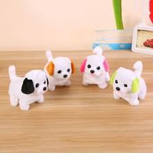 Robot köpek elektronik peluş köpek Pet yürüyüş havlayan oyuncak elektrikli husky çocuk oyuncakları çocuklar için doğum günü hediyeleri