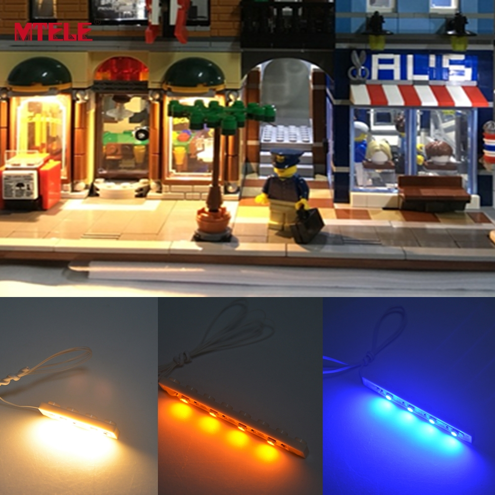 MTELE DIY High Quality 1x4 / 1x6 / 1x8 Plate Light Tilbehør For Building Block Toy LED Lighting Kit Med USB