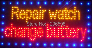 CHENXI Hot Sale Graphics 24x13 Inch indoor Ultra Bright running repair watch change buttery store sign of led-