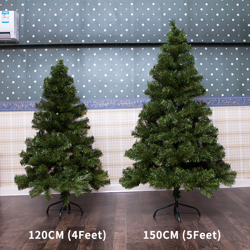 infant shining christmas tree festival diy christmas party tree 120cm4 feet 150cm5 feet with decorations light led in trees from home garden on