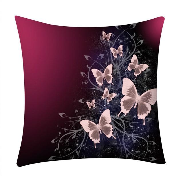 Farfalla di Stampa del Poliestere Fodere per Cuscini Decorativo Cuscini di Coper