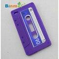 Venta caliente binmer belleza 1 unid cassette tape funda de silicona para iphone 4 4g jun.17