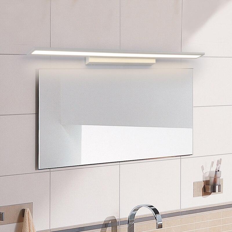 black white 0 4 1 2m modern mirror lights anti fog led bathroom lights dressing table toilet bathroom mirror lamp fixtures Modern Anti-fog proof LED mirror lights dressing table/toilet/bathroom mirror front lamp, AC85-265 0.4-1.2m 8-24W